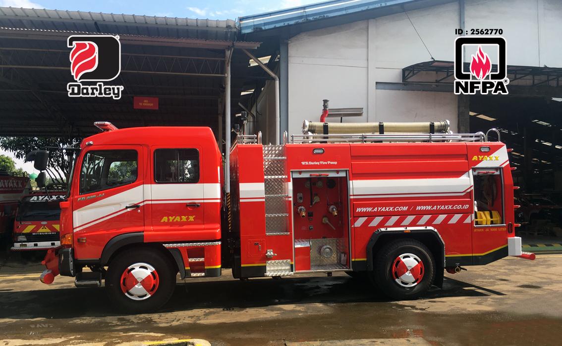 mobil pemadam kebakaran ayaxx double cabin