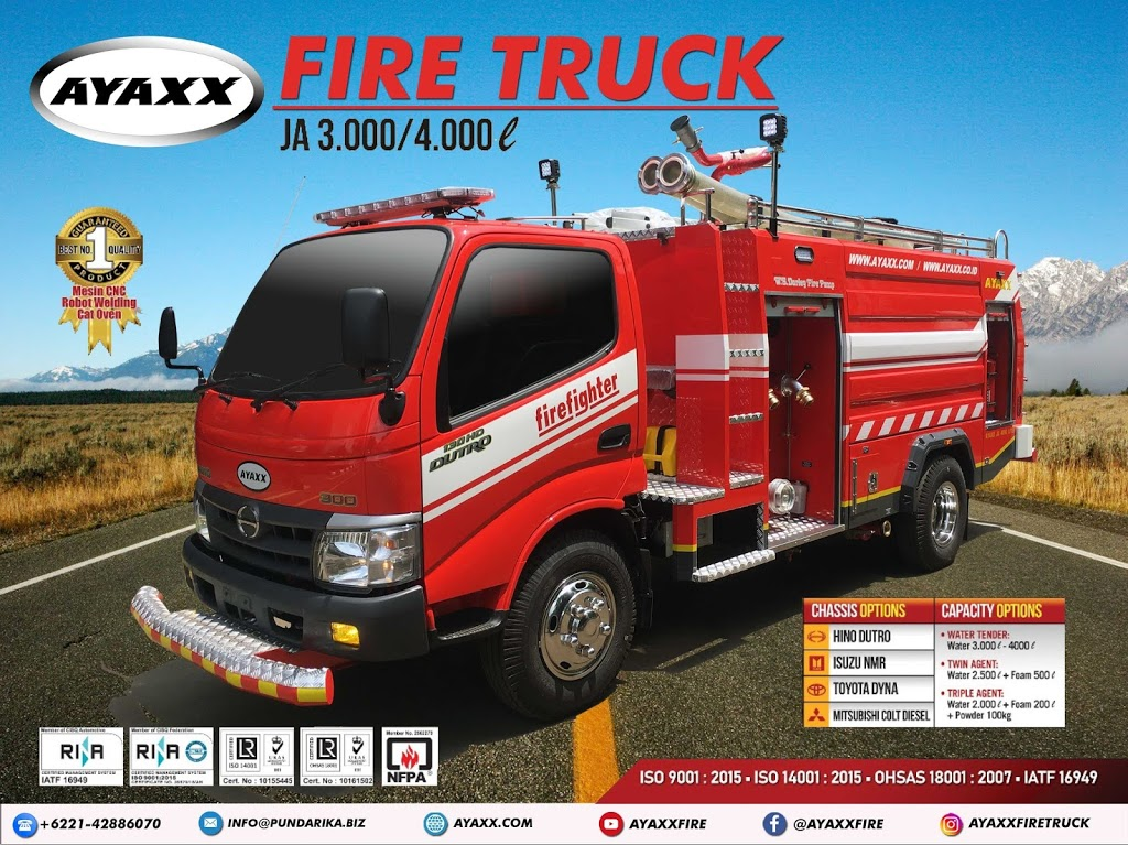 FIRE TRUCK INDONESIA AYAXX 3000-4000 Liter